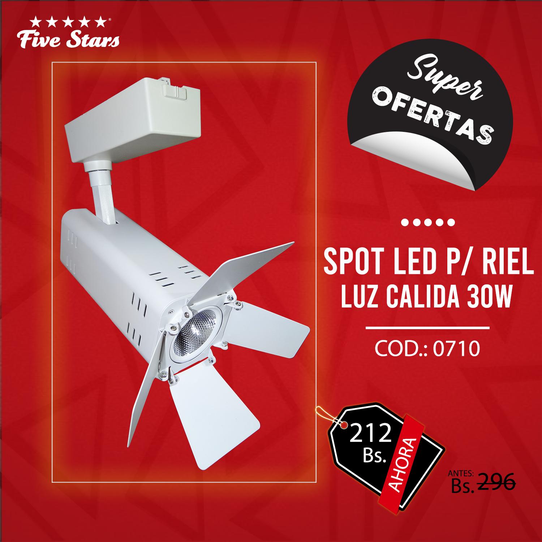 Spot Led para Riel Luz Cálida 30W