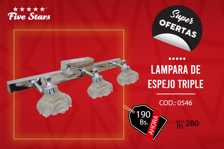 LÁMPARA  DE ESPEJO TRIPLE