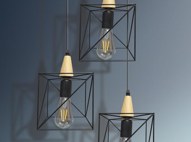Lámpara colgante Geométrica